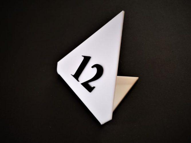 מספרי שולחן פרספקס